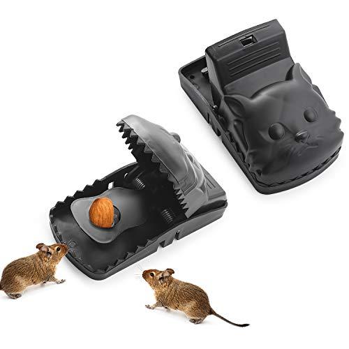Colmanda Trampa Ratones, 2 Piezas Trampa Ratas Reutilizable Trampa Ratones Trampas para Ratones Pequeños Trampa para Ratas Grandes para Hogar Ático Garaje Cocina