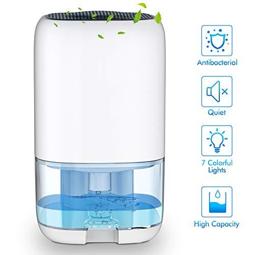 Nobebird elektrischer Luftentfeuchter Leise Mini Luftentfeuchter gegen Feuchtigkeit und Schimmel Raumentfeuchter für Schrank, Badezimmer, Schlafzimmer, Büro, Lager, 1000ml