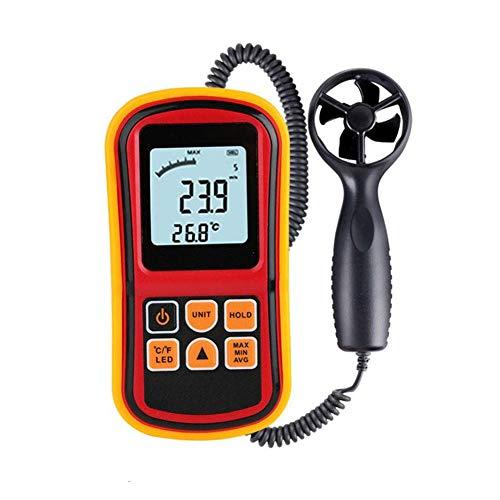 ZHEDAN Anemómetro Digital Portátil LCD Medidor De Velocidad del Viento para Medir La Velocidad del Viento, La Temperatura Y El Frío del Viento con Luz De Fondo, para La Pesca con Mosca Kite Flying