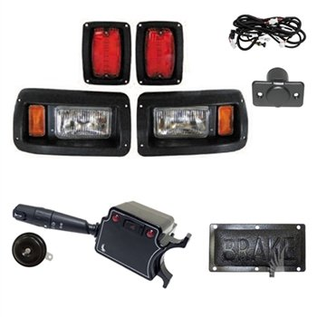 NEW Club Car DS Deluxe Light Kit Street Legal Turn Signals 1993-2017 Headlights - LED Taillights - Horn - Turn Signals - Brake Lights