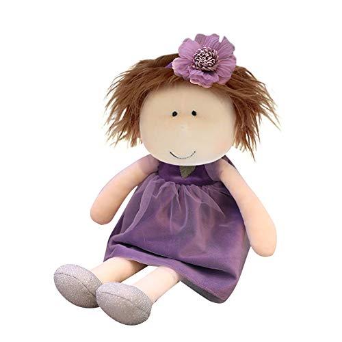 Weiche Stoffpuppe Plüschpuppe für Kinder von 0-5 Jahren zum Spielen Kuscheln,mit Kleidung Haaren,Kinderspielzeug Geschenk Plüschtiere Puppe Doll Mädchen Plüschtier...
