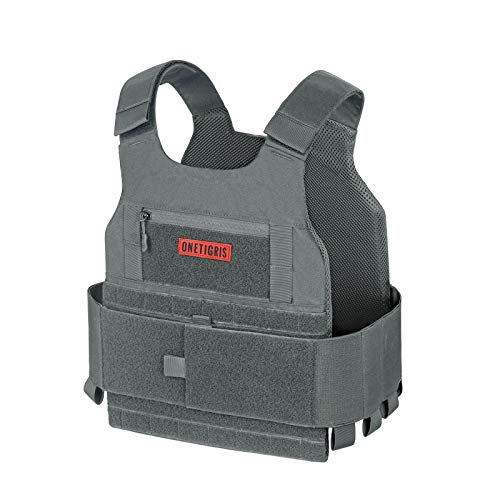 OneTigris Low Profile Tactical Vest Airsoft Plate Carriers (Gray)