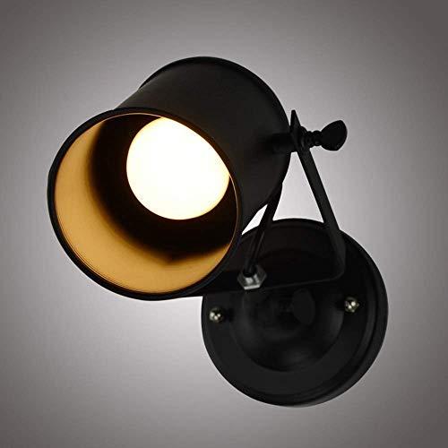 BXU-BG País americano retro lámpara de pared de hierro forjado pasillo balcón bar LED cama pequeña lámpara de pared de alto sabor brillante