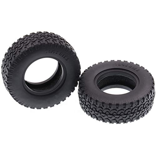 Senmubery 2 StüCk 1,55 Zoll Gummi Reifen für 1/14 Rm8 Baja RC Crawler Ferngesteuerte Autoreifen