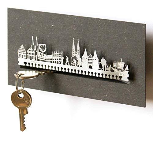 13gramm Lübeck-Skyline Schlüsselbrett Souvenir in der Geschenk-Box