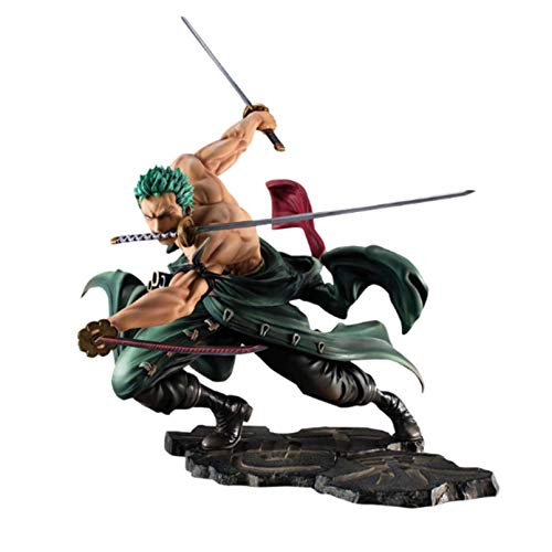 WEIPENG Figura di Anime One Piece Anime Figure Roronoa Zoro Toys for Kids.PVC Action Figure Collection Model Toys Gift