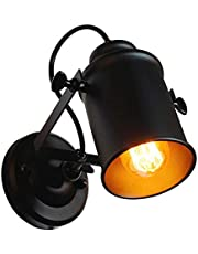 DAXGD Wandlamp, industriële vintage lamp voor thuis, decoratieve hanglamp op de arm met zwenkarm