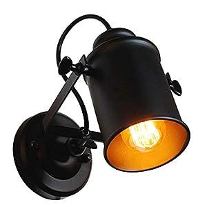 DAXGD Aplique de pared, lámpara industrial vintage para el hogar, luces colgantes decorativas en el brazo con brazo…