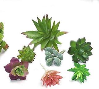 YRW 7 Piezas de Plantas Artificiales Verdes para la DecoracióN del JardíN del Hogar Plantas de Boda Arreglo Floral de Pared Plantas Falsas de Bonsai