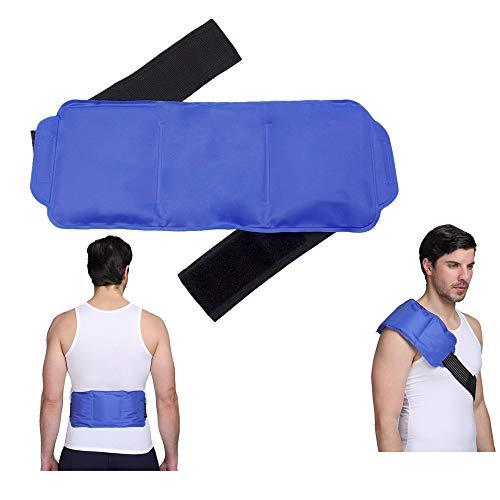 Bolsa gel frio-calor, bolsa de gel reutilizable para aplicar frío y calor, mejor como envoltura de calor o frío para espalda, cintura, hombro, cuello, tobillo y cadera