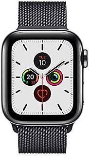 Apple Watch Series 5 GPS + Cellular, 40mm Space Black Stainless Steel Case with Space Black Milanese Loop