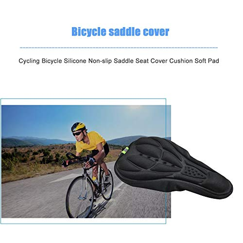 For Sale! Lironheel Cycling Bicycle Silicone Non-Slip Saddle Seat Cover Cushion Soft Pad Thick Saddle Bicycle Seat Cushion Cover Shock Absorption