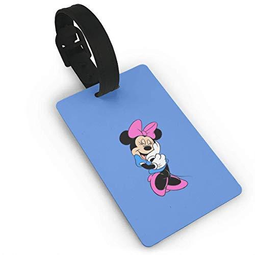 Shy Minnie Mouse Etiquetas para equipaje Maleta de mano Etiqueta de identificación de viaje para equipaje