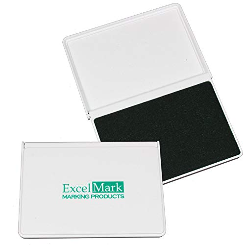 """ExcelMark Ink Pad for Rubber Stamps 2-1/8"""" by 3-1/4"""" - Green"""