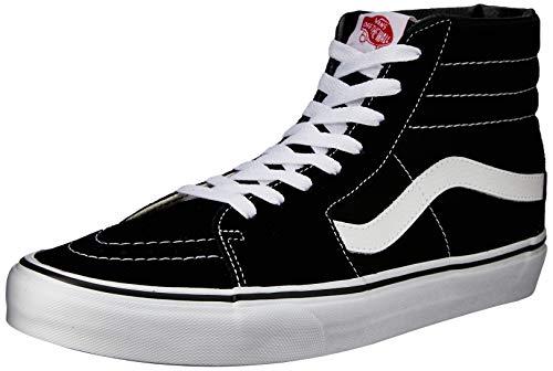 Vans Sk8-Hi, Sneakers Alti Unisex Adulto, Nero (Black/White), 42.5 EU