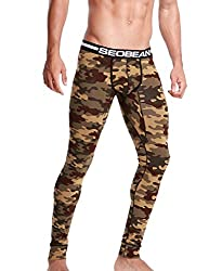 long underwear with camouflage pattern brown