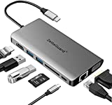 USB C Hub, Zettaguard 8-in-1 USB C Adapter with 4k USB C to HDMI,Type C Hub with Ethernet Port, USB 3.0 Ports, SD/TF Card Reader,VGA Port,for Mac Pro and Other Type C Laptops