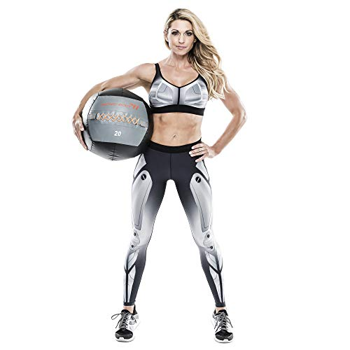 Bionic Body Soft Medicine Ball Weighted Slam Wall Ball for Cardio Workout and Core Training – Ideal for Squat, Lunge, and Partner Toss – 6, 10, 14, 20 lb., 20-Pound