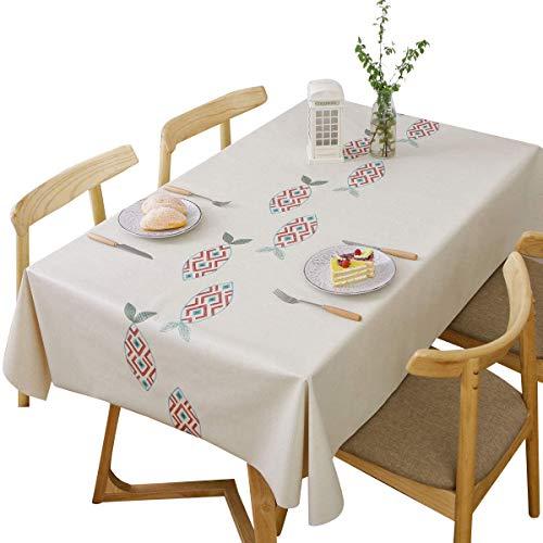 DreamyDesign Schöne PVC Tischdecke Abwaschbar Abwischbare Rechteckige Wachstuch Wachstuchtischdecke Tischdecken Wasserabweisende Tischtuch Garten-Tischdecke