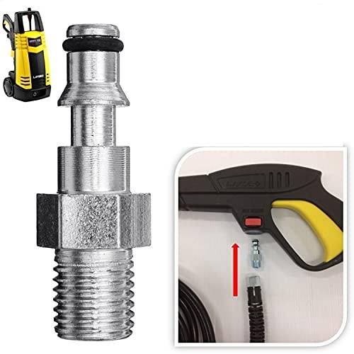 Parpyon Lavor - Conector adaptador de manguera para pistola limpiadora a presión de agua fría con enganche rápido + paño profesional
