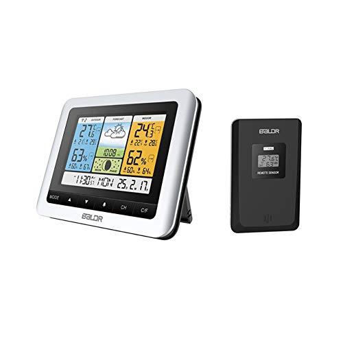 ZUZU Luftfeuchtigkeitsmonitor für den Innenbereich - Innen-Hygrometer-Thermometerstand/Wandhalterung mit großer LCD-Anzeige für Babyzimmer-Schlafzimmer-Bürogewächshaus-Lagerhaus