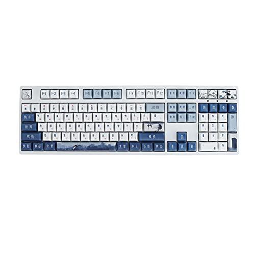 SLFDXDP keycaps Perfil 120 CLABLE Clave Sellado SELECCIONADO PBT 61/68/87/104/108 Keycap De Sublimación De Cinco Caras para El Teclado Mecánico