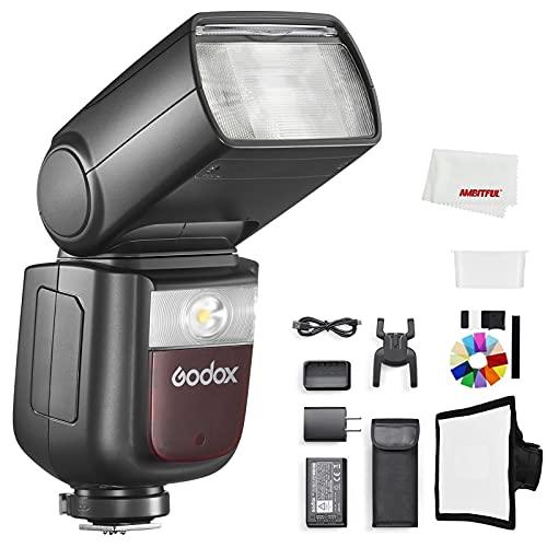 Godox Luz Speedlite V860III-N, E-TTL ll autoflash y flash manual, sincronización de alta velocidad de 2,4 G, batería de ion de litio de 7,2 V/2600 mAh, compatible con cámaras Nikon