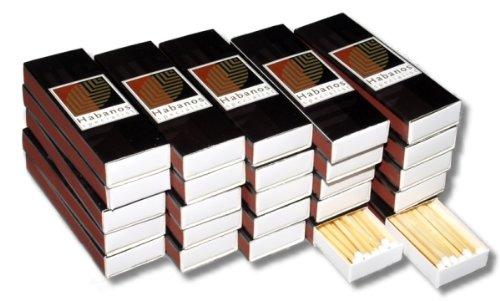 25 Päckchen Habanos-Specialist Zigarren Streichholz inkl. Lifestyle-Ambiente Tastingbogen
