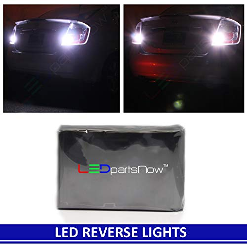 LEDpartsNow WHITE LED Exterior Back Up Reverse Lights Replacement for 2000-2013 Chevy Chevrolet Silverado or GMC Sierra (2 Bulbs), 3156 3157 4156 3056 4056
