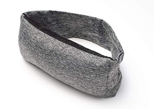 Schlafbrille mit Kissen für Damen und Herren, sehr bequem, sehr kompakt, ideal für Reisen, Camping, Flüge, Bahnfahrten, Pendeln, Meditation, Entspannung, Schichtarbeit