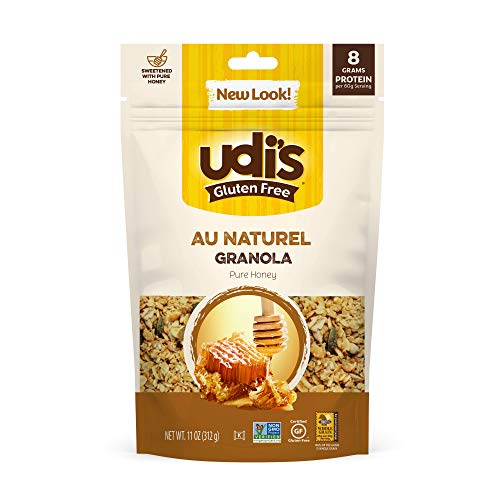 Udi's Gluten Free Au Naturel Granola, Dairy Free and Egg Free, 12 Ounce (Packaging May Vary)