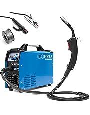 Ipotools MIG-160ER Inverter-lasapparaat, MIG/MAG-beschermgas, 160 ampère, ook geschikt voor flux/vuldraad en elektroden, E-hand, digitaal display, IGBT-technologie, 230 V