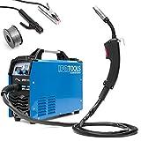 IPOTOOLS MIG-160ER Inverter Schweißgerät MIG MAG - Schutzgas Schweissgerät mit 160 Ampere auch FLUX/Fülldraht und Elektroden geeignet/E-Hand/Digitalanzeige/IGBT Technologie / 230V