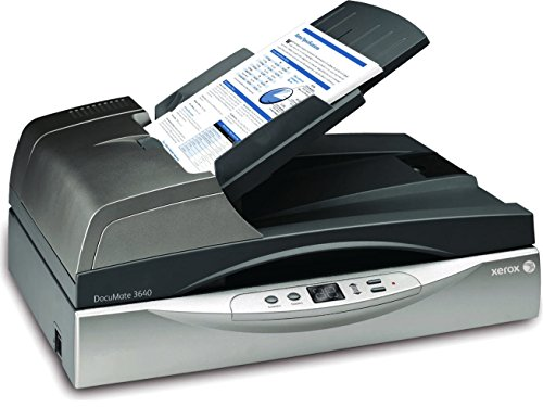 Xerox DocuMate 3640 Duplex Color ADF/Flatbed Document Scanner