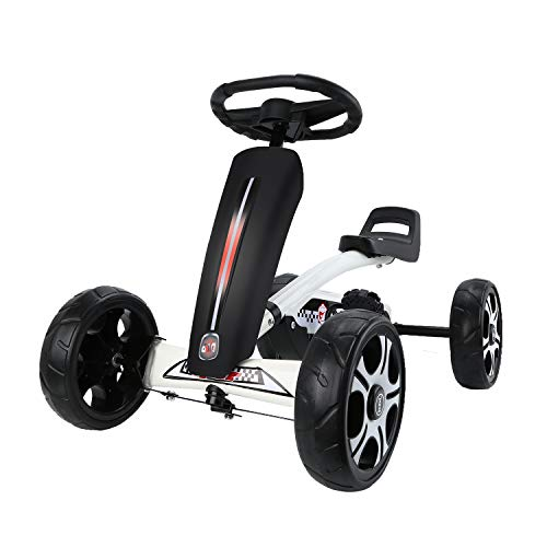 AODI Go Kart, Kids' Pedal Car 4 EVA Tires Ride On Toy with 3 Adjustable Seat for Boys Girls 2-6 Ages