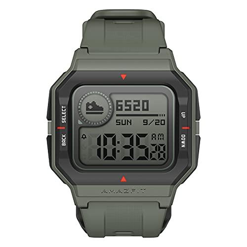 Amazfit Neo Smartwatch Orologio Fitness Sportivo Display Digitale da 1,2  Always-On Impermeabile 5 ATM Tempo di Durata fino a 28 Giorni Contapassi da Polso Activity Tracker (Verde)