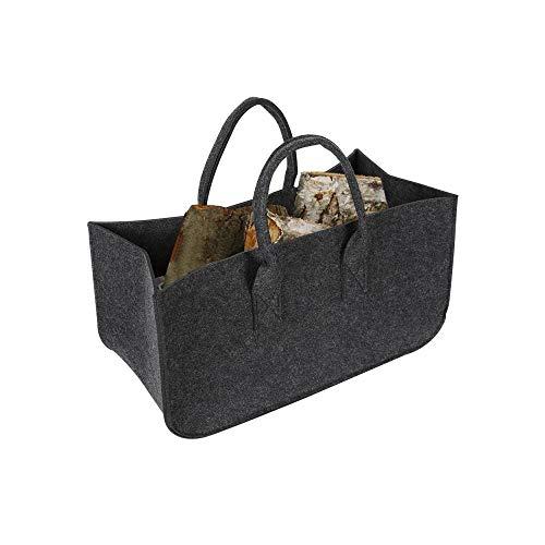 Sac de transport pour bois de chauffage - Réutilisable - Sac de rangement pliable et étanche avec poignée - Sac dépicerie pour cheminées, poêles à bois, bûches, camping, plage - Taille L