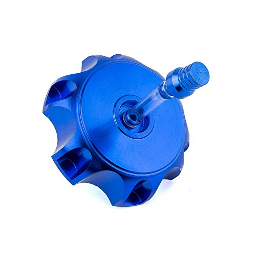 Eriding Bike Gas Tank Cap Fuel Aluminum Alloy Hexagonal with Breather Valve For 50cc 70cc 90cc 110cc (Blue)