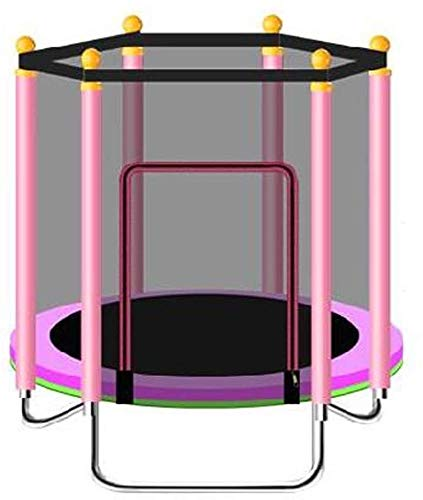 YAOJIA Indoor trampoline Mini Fitness Trampoline For Children/Toddler Rebounder Trampoline With Fence|Max Load 250kg For Indoor Garden Workout Cardio Exercise (Color : Pink)