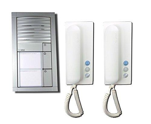 Siedle - Portero automático (2 telefonillos), color plateado