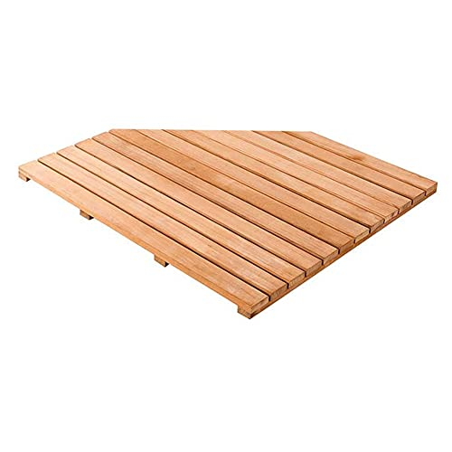Alfombrilla de baño de madera, tabla de pato, estera de ducha antideslizante para baño, colchoneta de piso de madera cuadrado grande para spa casa o al aire libre, escustomizable ( Size : 80x80cm )