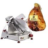 FAC - Special Bundle - Affettatrice elettrica Curvy C220 AF - Pomoli rossi + Prosciutto Crudo di Parma 24 mesi intero incluso nel prezzo