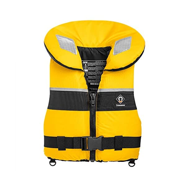 Crewsaver Boating and Sailing - Spiral 100N Life Jacket - Yellow - Unisex - 100N of inherent buoyancy