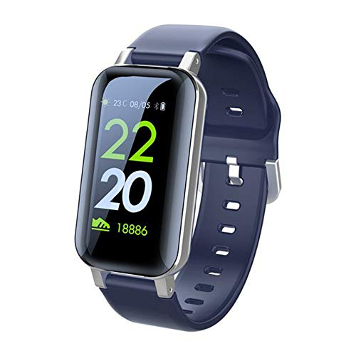 Ake Auricular inalámbrico Auricular Watch Smart Watch Touch Bluetooth Auricular Deportes Aptitud Pulsera Earplugs Multifuncional T89,C