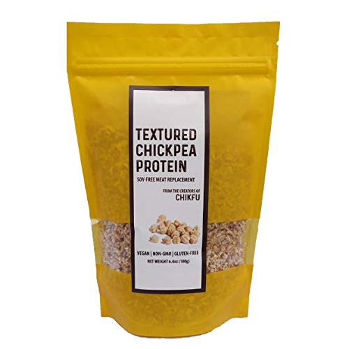 Soy-Free Meatless Crumbles, Made from Chickpeas, Vegan Meat Substitute, Textured Vegetable Protein (TVP), 38g of Protein, Non-GMO, Gluten Free, No Sodium, Plant based, Made in USA