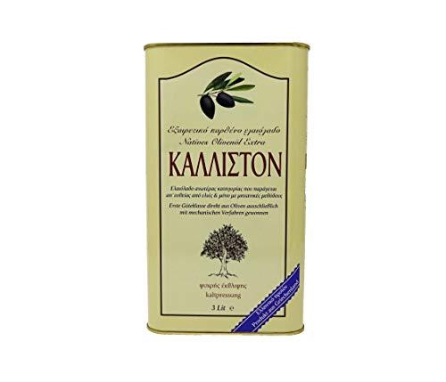 Kalliston - Extra natives Olivenöl in preisgekrönter Spitzenqualität - Von Hand geerntet - kaltgepresstes griechisches Olivenöl - 3 Liter / 3000ml Kanister