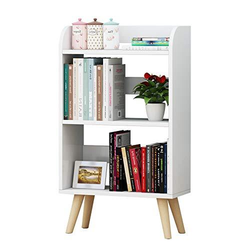 Librerie YANFEI Moderna a 3 Piani, scaffali in Legno massello, Armadio (4 Stili) (Colore : White-A1)