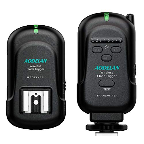 AODELAN Kamera Blitzauslöser und Empfänger Kit Blitzauslöser Auslöser für Canon, Nikon, Pentax, Olympus DSLR-Serie