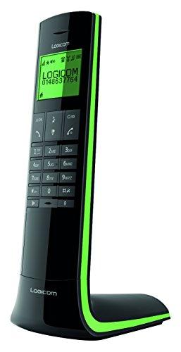 Logicom Luxia 150 Téléphone Sans fil Noir et Vert