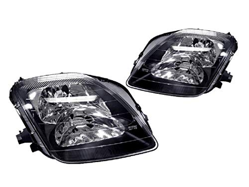 DEPO JDM Black Housing Replacement Headlight Pair Compatible and Fits For 1997-2001 Honda Prelude (US SPEC) - Compatible and Fits for Honda